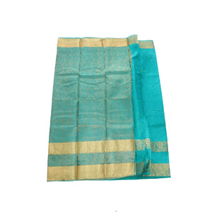 arars Women's kanchipuram kanjivaram pattu kanjivaram embosed plain silk saree with blouse (481, rama)