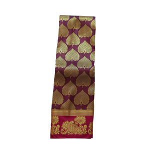 arars Women's kanchipuram kanjivaram pattu art butta silk saree with blouse (483, maroon)