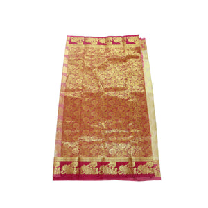 arars Women's kanchipuram kanjivaram pattu art butta silk saree with blouse (483, offwhite)