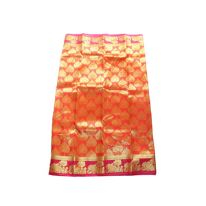 arars Women's kanchipuram kanjivaram pattu art butta silk saree with blouse (483, orange red)