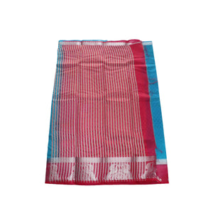 arars Women's kanchipuram kanjivaram pattu kanjivaram embosed plain silk saree with blouse (486, blue)