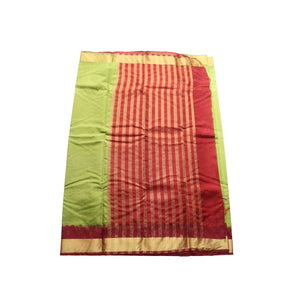 arars Women's kanchipuram kanjivaram pattu balaton embosed plain silk saree with blouse (489, olive)