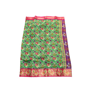 arars Women's kanchipuram kanjivaram pattu raw printed silk saree with blouse (493, olive)