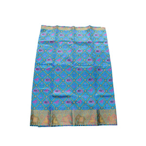 Arars Women's Banarasi Silk Saree Kanchipuram Pattu Style printed Silk Saree With Blouse (504_blue&blue )