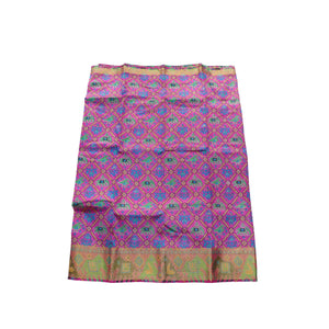 Arars Women's Banarasi Silk Saree Kanchipuram Pattu Style printed Silk Saree With Blouse (504_rani&rani )