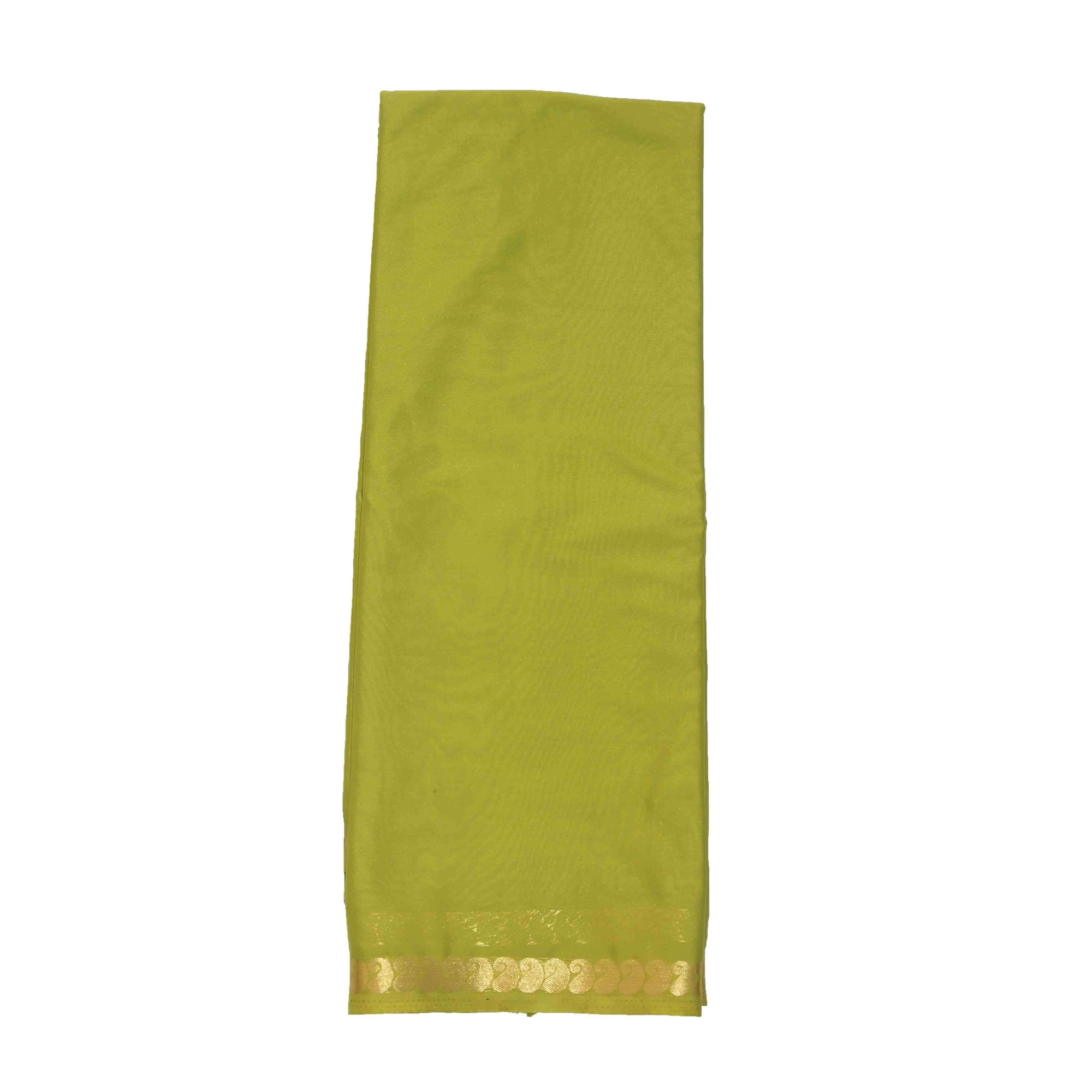 arars Women's Kanchipuram Pattu crepe plain Silk Saree With Blouse (523_olive_olive )