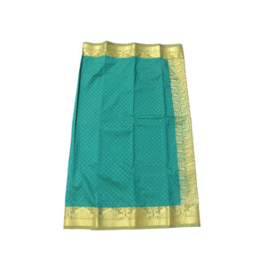 arars Women's Kanchipuram Pattu rich pallu Silk Saree With Blouse (528_safair_mustard )