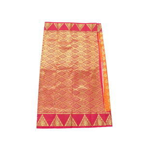 arars Women's Kanchipuram Pattu art Silk Saree With Blouse (531_mustard_rani )