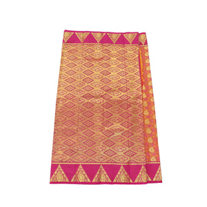 arars Women's Kanchipuram Pattu art Silk Saree With Blouse (531_strawberry_rani )