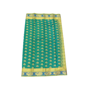 arars Women's Kanchipuram Pattu art Silk Saree With Blouse (532_rama_mustard )