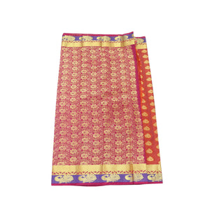 arars Women's Kanchipuram Pattu art Silk Saree With Blouse (532_rust_magentha )