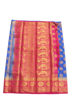 arars Women's Kanchipuram Pattu Banarasi Silk Saree With Blouse (533_royal_rani )