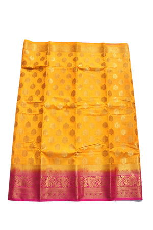 arars Women's Kanchipuram Pattu Banarasi Silk Saree With Blouse (534_gold_rani )