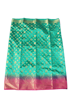 arars Women's Kanchipuram Pattu Banarasi Silk Saree With Blouse (536_safair_rani )