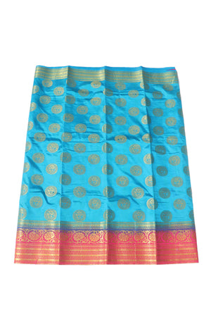 arars Women's Kanchipuram Pattu Banarasi Silk Saree With Blouse (538_blue_rani )