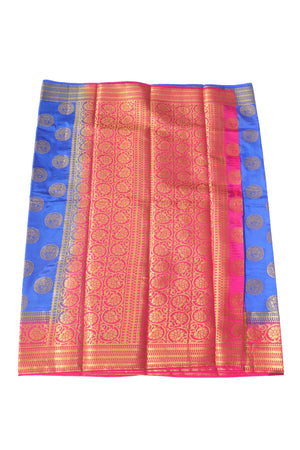 arars Women's Kanchipuram Pattu Banarasi Silk Saree With Blouse (538_royal_rani )