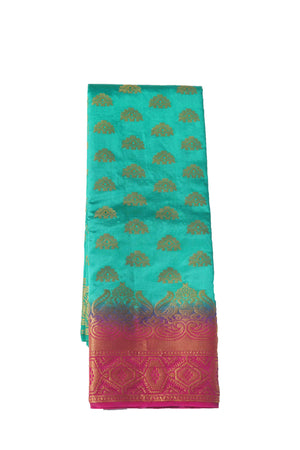 arars Women's Kanchipuram Pattu Banarasi Silk Saree With Blouse (541_rama_magentha )