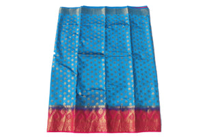 arars Women's Kanchipuram Pattu Banarasi Silk Saree With Blouse (542_blue_rani )