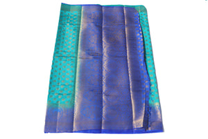 arars Women's Kanchipuram Pattu Banarasi Silk Saree With Blouse (542_safair_royal )