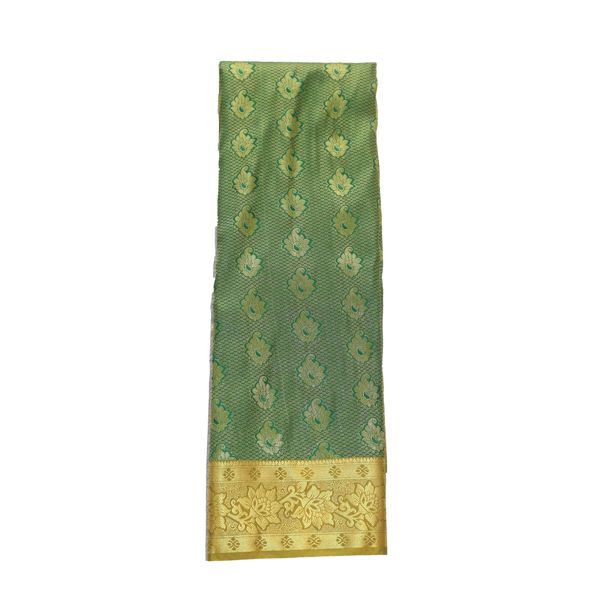 Arars Women's Banarasi Silk Saree Kanchipuram Pattu Style art Silk Saree With Blouse (AD02_green&mustard )