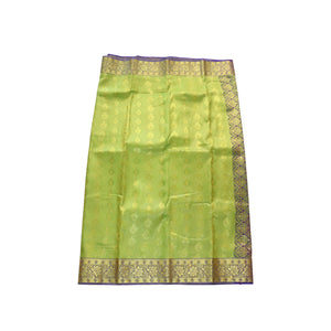 Arars Women's Banarasi Silk Saree Kanchipuram Pattu Style art Silk Saree With Blouse (AD02_parrot&violet )