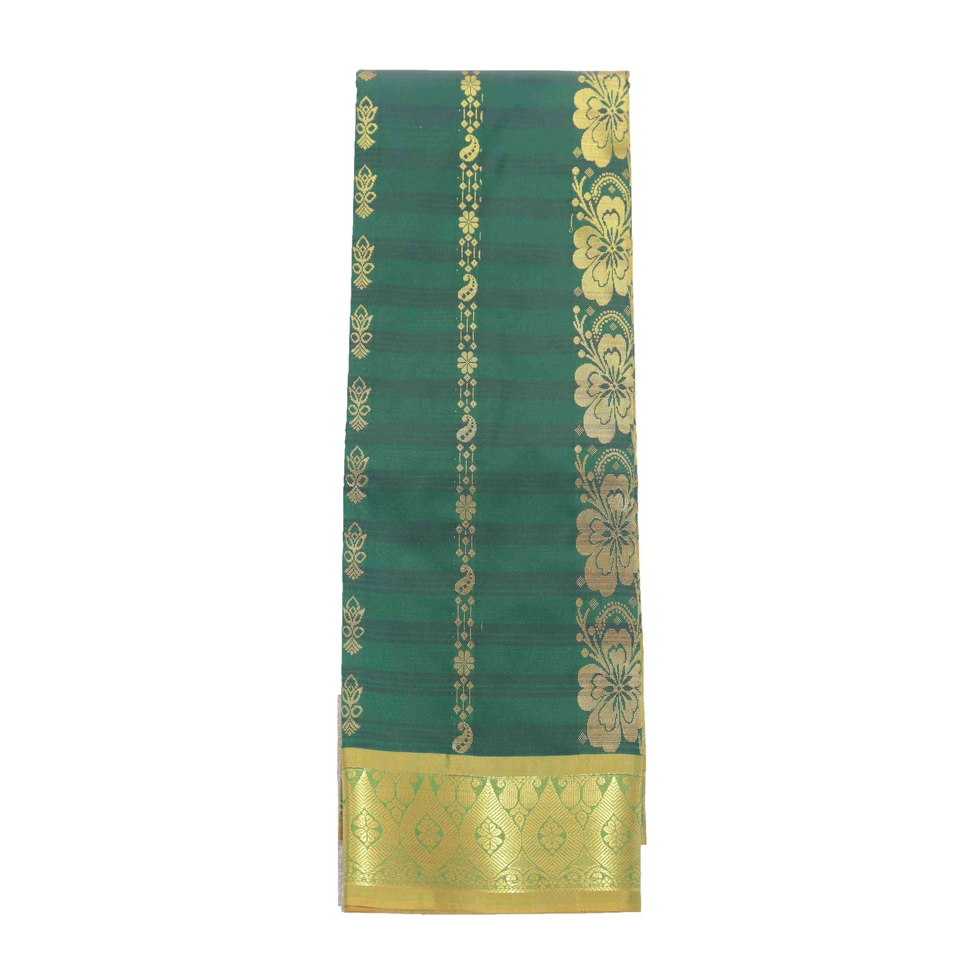 Arars Women's Banarasi Silk Saree Kanchipuram Pattu Style art Silk Saree With Blouse (AD08_bgreen&mustard )