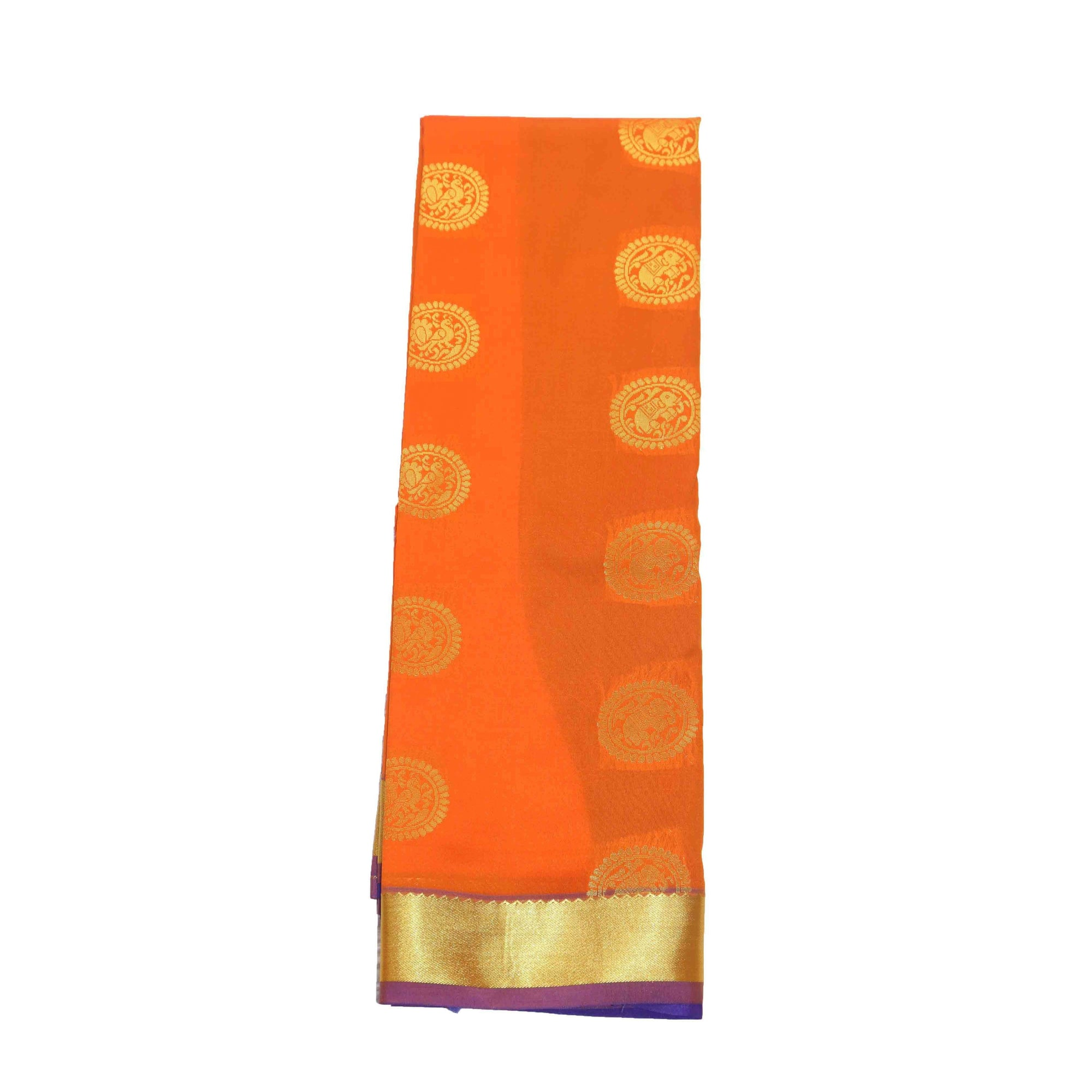 Arars Women's Banarasi Silk Saree Kanchipuram Pattu Style art Silk Saree With Blouse (AD09_mustard&violet )