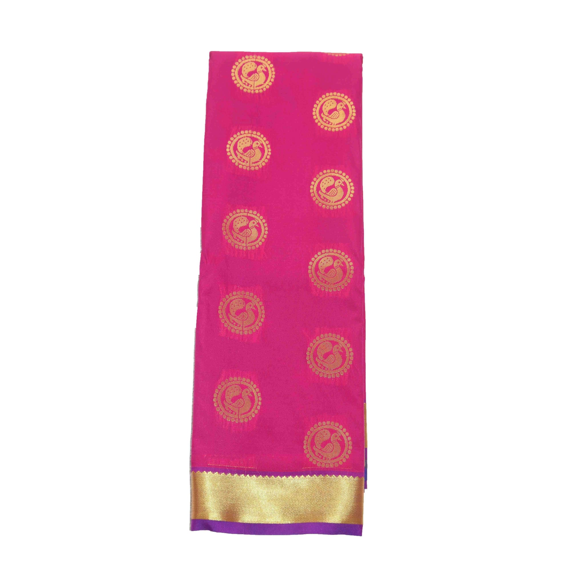 Arars Women's Banarasi Silk Saree Kanchipuram Pattu Style art Silk Saree With Blouse (AD09_rani&violet )