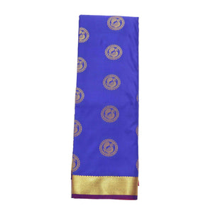 Arars Women's Banarasi Silk Saree Kanchipuram Pattu Style art Silk Saree With Blouse (AD09_rust&violet )