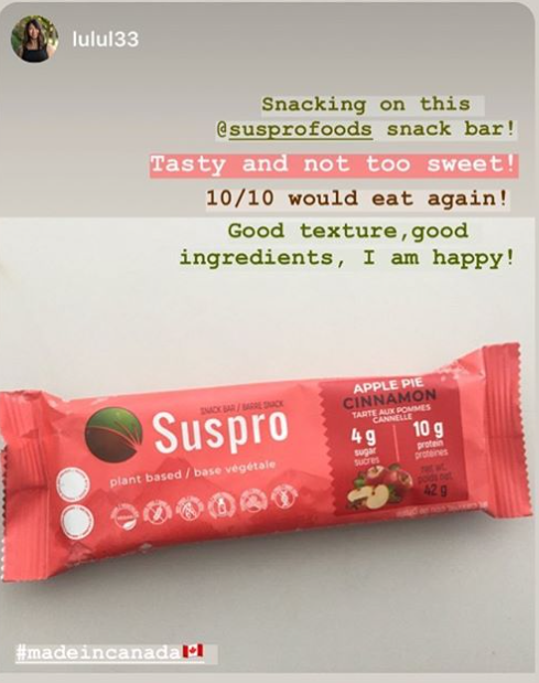 Suspro Apple Pie Cinnamon Bar Testimonial