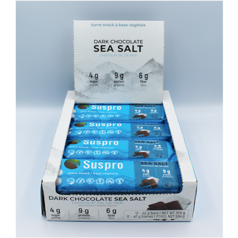 Dark Chocolate Sea Salt Snack Protein Bar (12 bars)