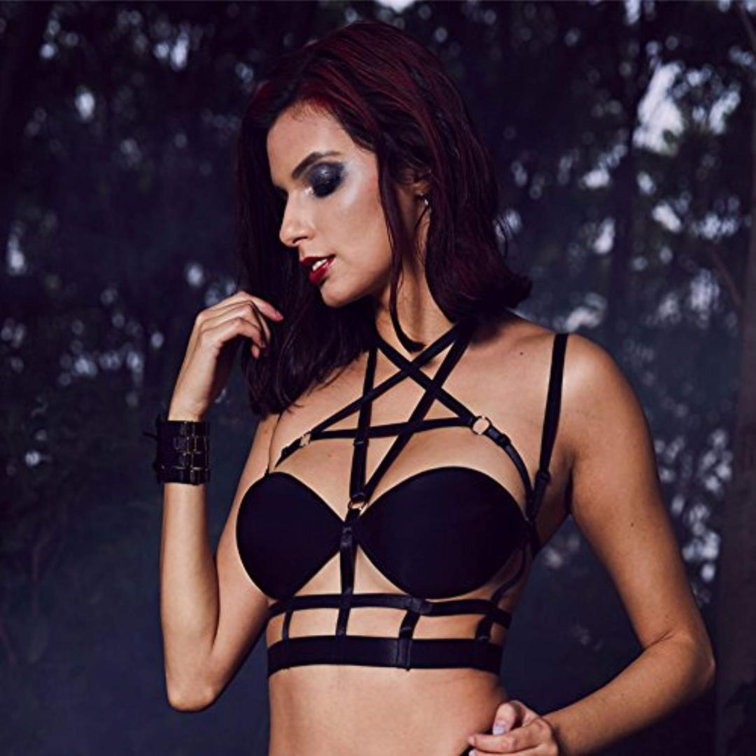 Demonic Caged Harness Bralette