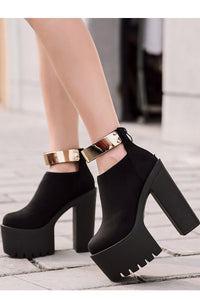 Gold Bound Platform booties