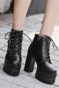 Raven Vegan Leather Platform Boot