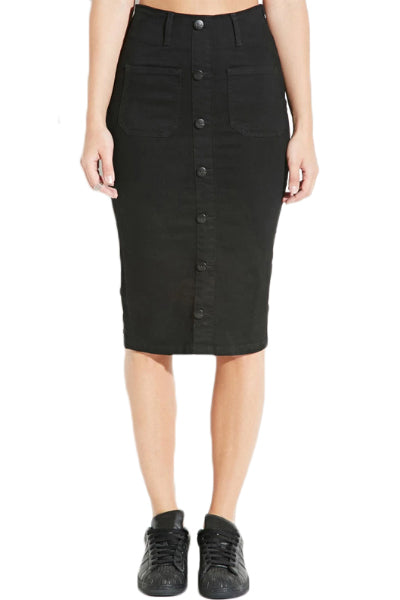 Skater Girl Black Pencil Skirt