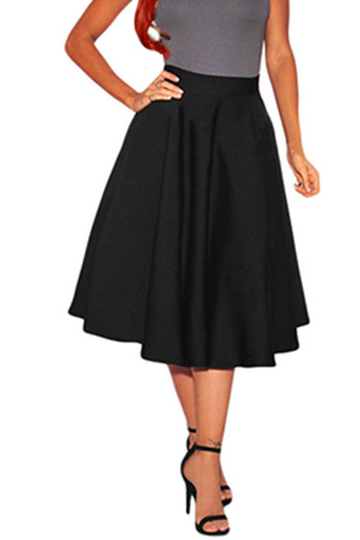 Goth Pinup Flared Skirt