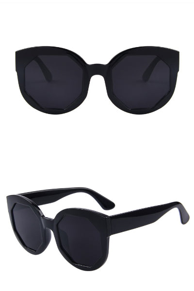Onyx Geo Cat Eye Sunglasses