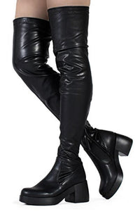 Morgan Over The Knee Boots Vegan Suede Or Leather