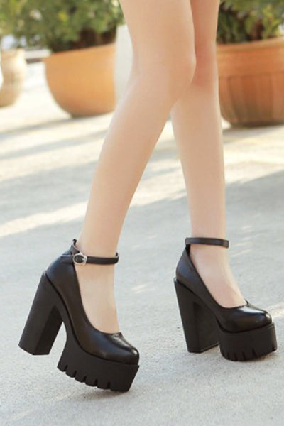 School Girl Platform Shoes