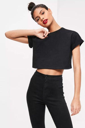 Short Sleeve Crop Top Crew