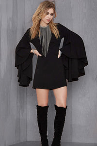 Bell Sleeve Chained Witch Dress