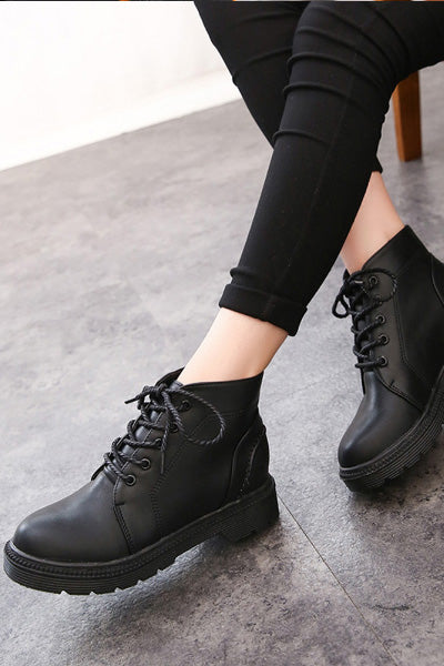 Bootie Ankle Length Lace Up Boots