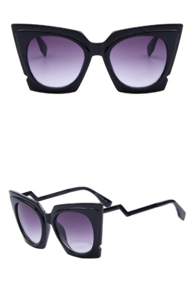 Pointed Oversized Cat Eye Sunglasses