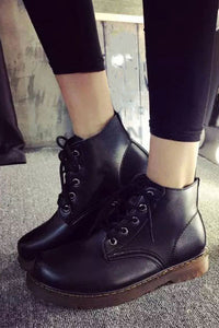 A Little Combat Ankle Boot