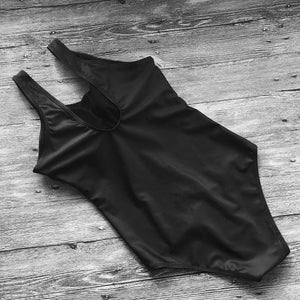 Black Cat One Piece Bathing Suit