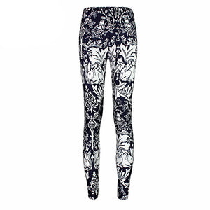 Enchanted Storybook Black and White Leggings