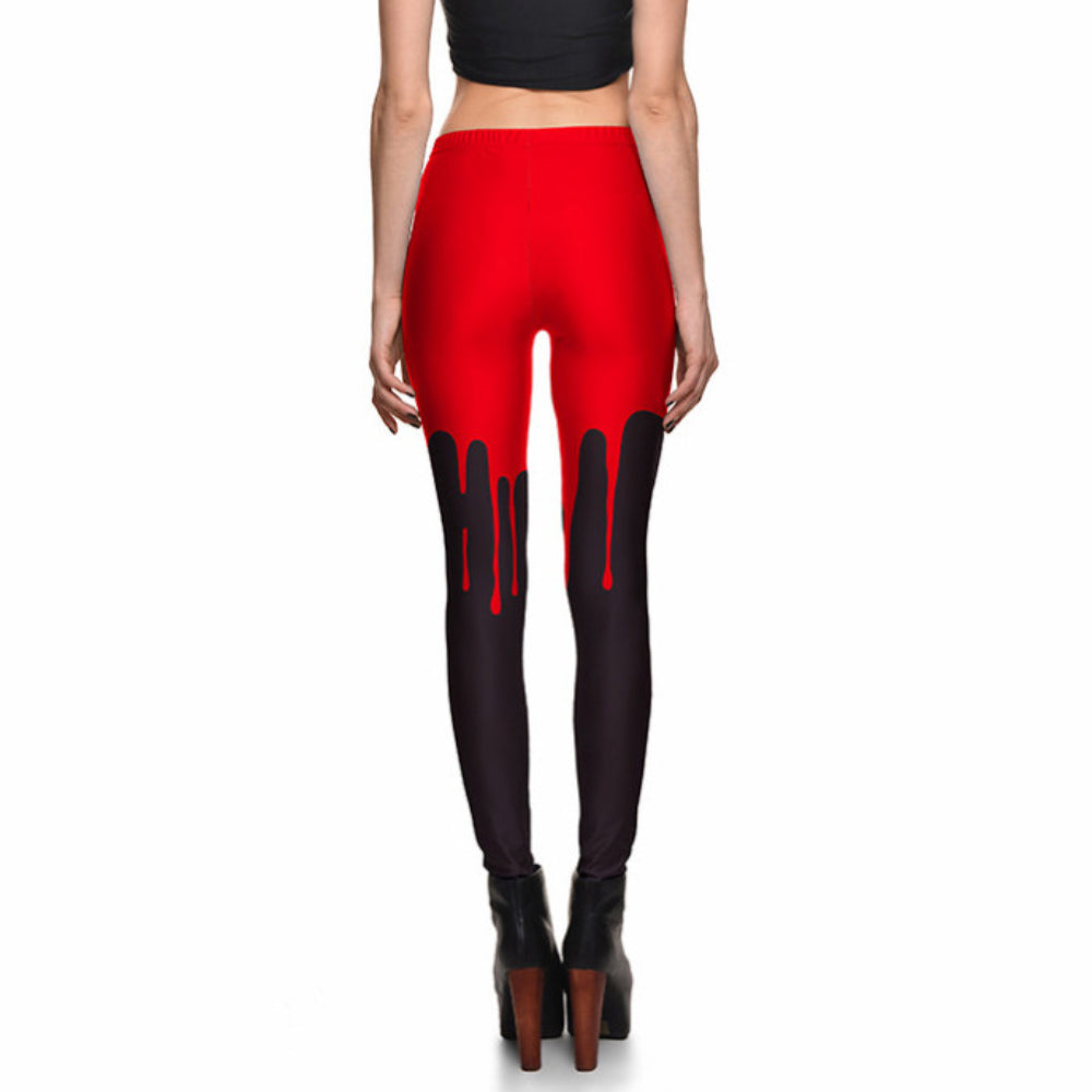 Bloodbath Black and Red Leggings