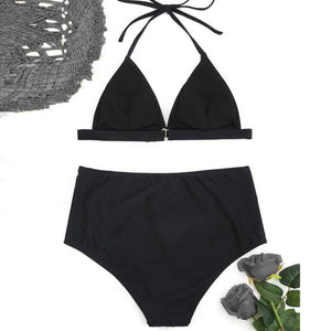 White Rose Two Piece Bathing Suit
