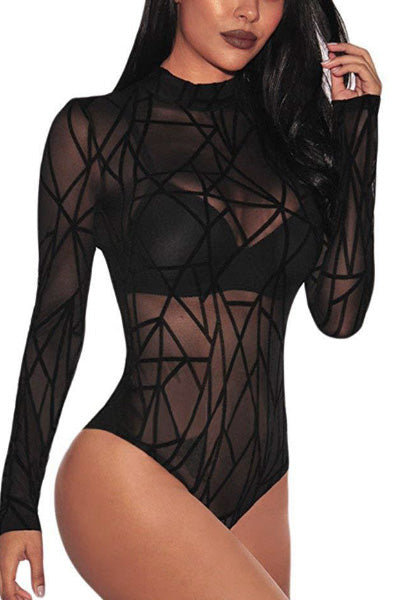 Geo Sheer Body Suit