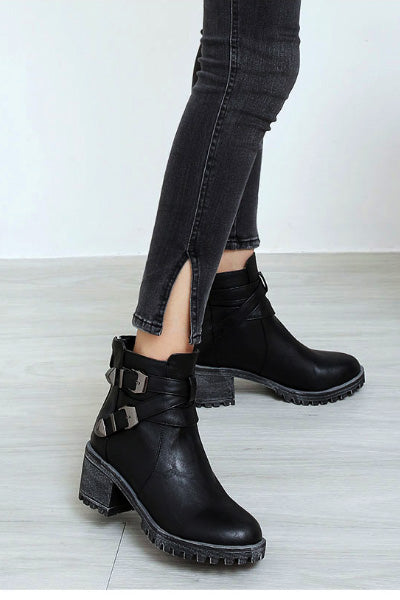 Biker Witch Ankle Boots